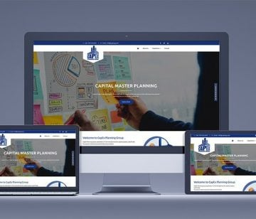 Capex Planning responsive website design shown on all devices