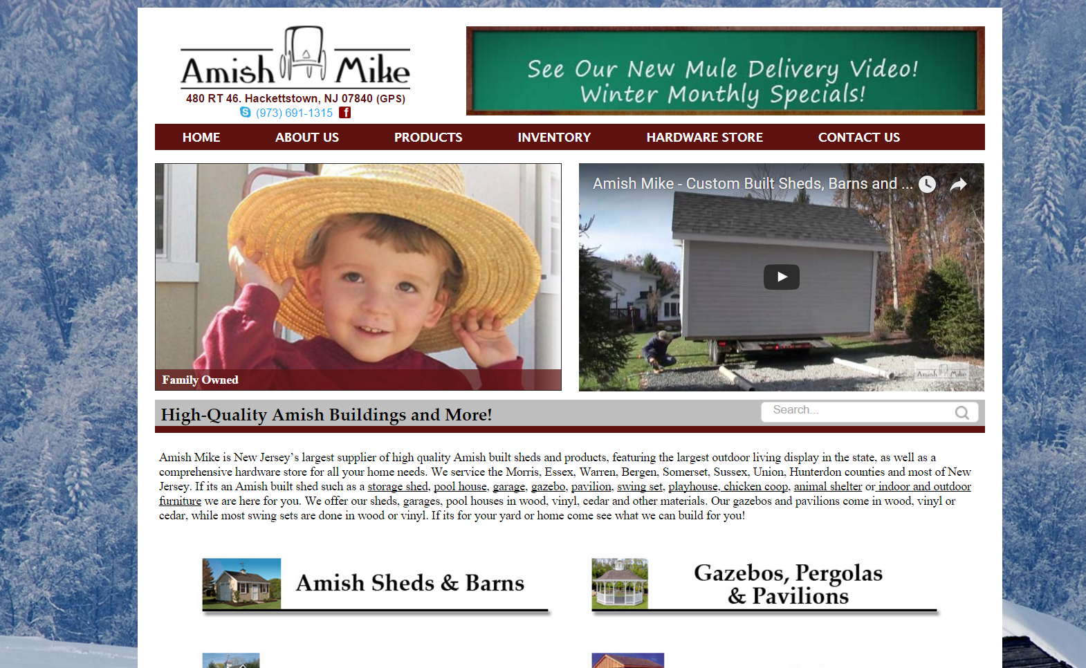 Amish Mike Website Redesign