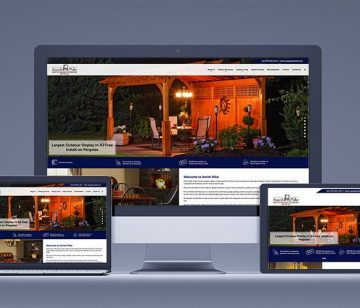 Amish Mike responsive website redesign shown on all devices