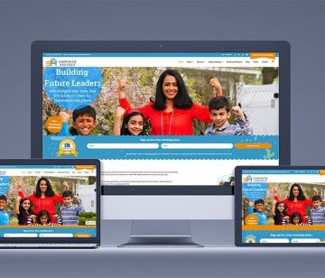 Empower and Help responsive website design shown on all devices