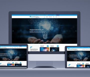 Forward Solutions, LLC responsive website redesign shown on all devices