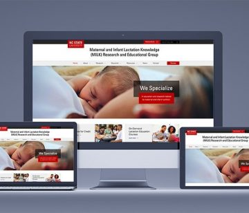 nc state responsive website design shown on all devices