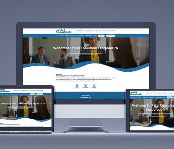 mrn-portfolio patel consultants responsive website redesign shown on all devices