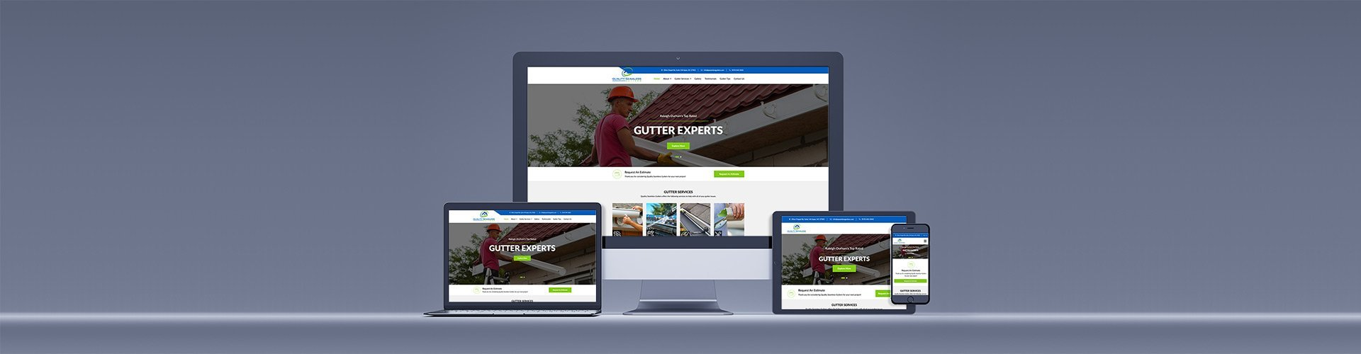 Quality Seamless Gutters Mrn Web Designs