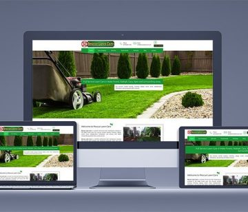 rescue-lawn-care responsive website redesign shown on all devices